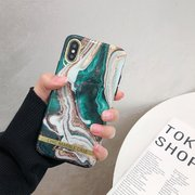 Women Flowing Gold Marble Vogue TPU Phone Case Back Cover Anti-fall For iPhone
