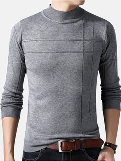Casual Turtleneck Sweaters Pullover Long Sleeve Sweaters for Men