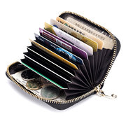 Women Genuine Leather 9 Card Slot Cute Wallet Mini Purse