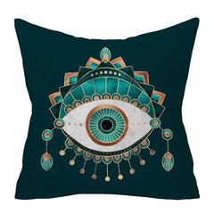 العقيق الزمرد خلاصة هندسية الخوخ الجلد غطاء وسادة أريكة ديكور المنزل الفن رمي سادات