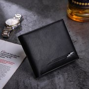 Men Business Casual PU Leather Hasp Card Holders Wallet Purses