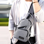 Casual Outdoor Travel USB Charging Port Sling Bag Chest Bag Crossbody Bag