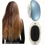 Portable Electric Ionic Hairbrush Mini Massage Comb Anti-Static Straight Hair Comb Hair Care