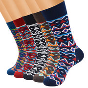 Men's Classical Colorful Combed Cotton Business Socks Casual Sweat Breathable Long Tube Sock For Man