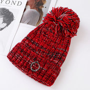 Womens Knit Pom Pom Bucket Beanie Cap Soft Comfortable Soft Winter Warm Outdoor Snow Hats