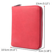 RFID Men And Women Genuine Leather 24 Card Slot Large Capacity Card Holder Passport Case