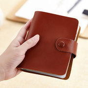 60 Card Slots Card Holder Genuine Leather Big Capacity Wallet For Women Men