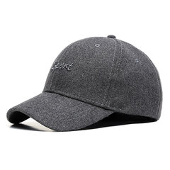Man 100% Cotton Or Artificial Fur Solid Color Embroidery Pattern Warm Leisure Baseball Cap