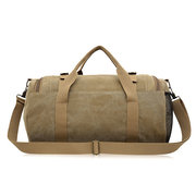 Vintage Bucket Bag Canvas Crossbody Bag Dual-use Big Capacity Travel Bag For Men