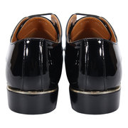 Men Pure Color Patent Leather Dress Shoes