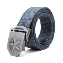140cm Five-Pointed Star Extended Thickening Canvas Weaving Buckle Belt