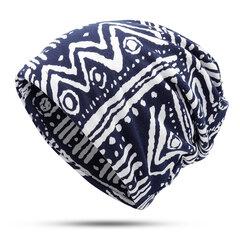 Женское Мужская полезная печать Хлопок Теплая шапочка Шапка На открытом воздухе Ветрозащитный для обеих голов и Шея Теплее Шапка