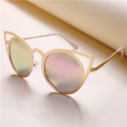 Women Cat Eye Metal Frame Colorful Fashion Sunglasses