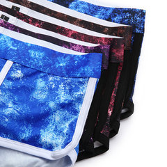 Mens Underwear Breathable Printing Boxer Casual Comfortable Male Boxer Briefs