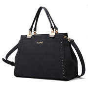 Kadell Matte Leather Hollow Out Tote Handbags Casual Shoulder Bags