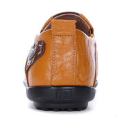 Men Cow Leather Large Size Soft Casual Driving Shoes