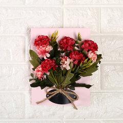 لون الخشب مجلس محاكاة زهرة زخرفة جدار غرفة المعيشة مقهى الاصطناعي زهرة وهمية ديكور المنزل