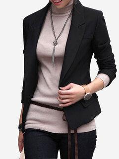 Long Sleeved Slim Female Jacket Small Suit
