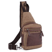 Uomini Canvas Casual Travel Outdoor spalla Borsa petto Crossbody Borsa