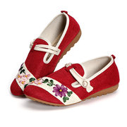 Flax Flower Vintage Chinese Knot Flat Casual Shoes
