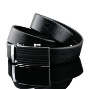 125-130CM Business Genuine Leather Belt First Layer Leather Automatic Belt For Men