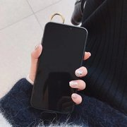 Women Retro Crack TPU Phone Case With Wrist Strap Bracket Back Cover Anti-fall For iPhone