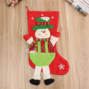 Stereo Christmas Decor Sock Santa Claus Snowman Holiday Party Home Bag