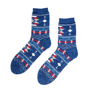 Men Winter Retro Folk-custom Cotton Thicken Socks Casual Breathable Harajuku Tube Sock