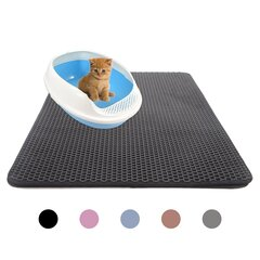 Double Layer Pet Cat Litter Mat Kitten Toilet Mat Feeding Mat