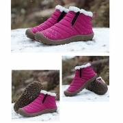 Big Size Women Winter Waterproof Cloth Warm Lining Ankle Snow Boots