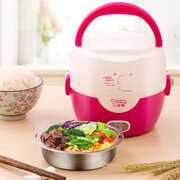 1L Mini Rice Cooker Student Dormitory Noddles Hot Pot Double Layers Insulation Steamer
