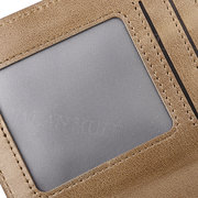 Genuine Leather Driver License 14 Card Slots Trifold Wallet For Men