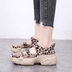 Женское Повседневная обувь Спортивный леопард Крюк Loop Платформа Сандалии