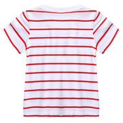 Unisex Striped Toddler Boys Girls Kids Short Sleeve Soft Cotton T Shirts For 2Y-7Y