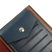 Men Business Casual Retro Long Wallet Cards Cash Coins Bags Purse