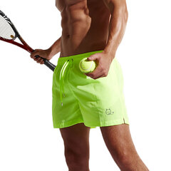 Men Quick Dry Tennis Shorts Elastic Waist Drawstring Beach Boxer Shorts Summer Casual Athletic Short