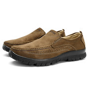 Large Size Men Fabric Breathable Comfortable Slip On Casual Shoes