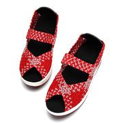 Peep Toe Knitting Platform Rocker Sole Shake Shoes For Women