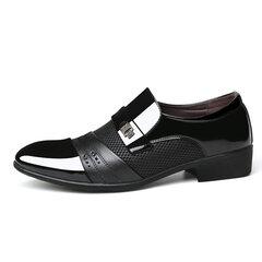 Мужские туфли большого размера стильные сращивания на деловой формальной обуви Платье