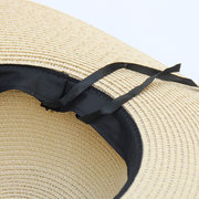 New Season Cinghie Bow Big Sunscreen Cappello di paglia Copricapo da donna Casual Beach Copricapo Cappello da sole