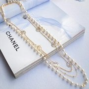 Bohemian Mutilayer Necklace Gold Rose Chain White Pearls Necklace Fashion Jewelry for Women