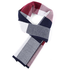 180CM Men Autumn Winter Thicken Warm Scarves Casual Travel Plaid Knitting Scarf