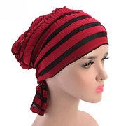 Chiffon Cow Louver Fold Hut Soft Multicolor Einstellbare Kopfschmuck Kopftuch für Damen