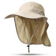 Pescador de malla transpirable unisex Impermeable verano Sombrero al aire libre Gorra de sombrilla de malla de escalada