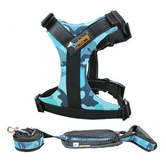 Ondoing Pet Dog Harness Easy Walking with Handle to Carry Adjustable for Large Small Dogs Cat Pet