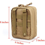 Tactical Nylon Portable Belt EMT Casual Military Army Waist Bag For Men
