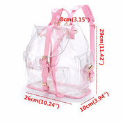 Women Girl Clear Backpack Cute Plastic Transparent School Bag