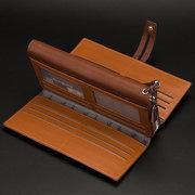 Baellerry 16 Kartenhalter Große Kapazität Business Clutch Pu Leder Handytasche Brieftasche Für Männer