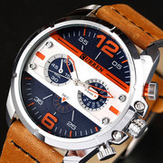 Casual Quartz Watches Rubber Band Military Analog Leather Quartz Wrist Watch