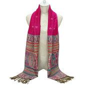 Écharpe en coton mélangé chaud pour femmes, style écharpe